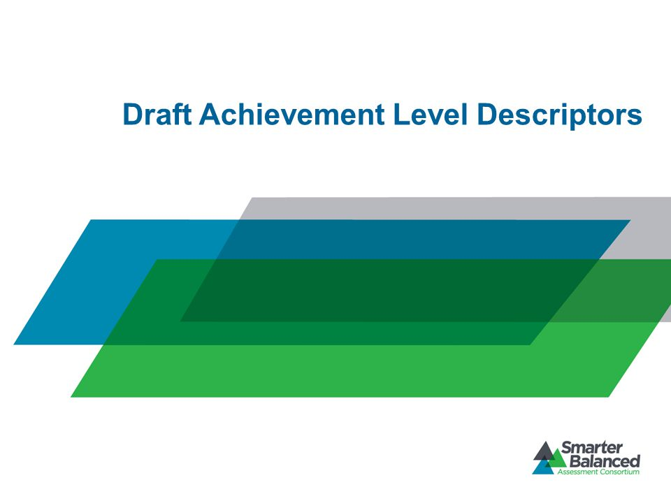 Draft Achievement Level Descriptors