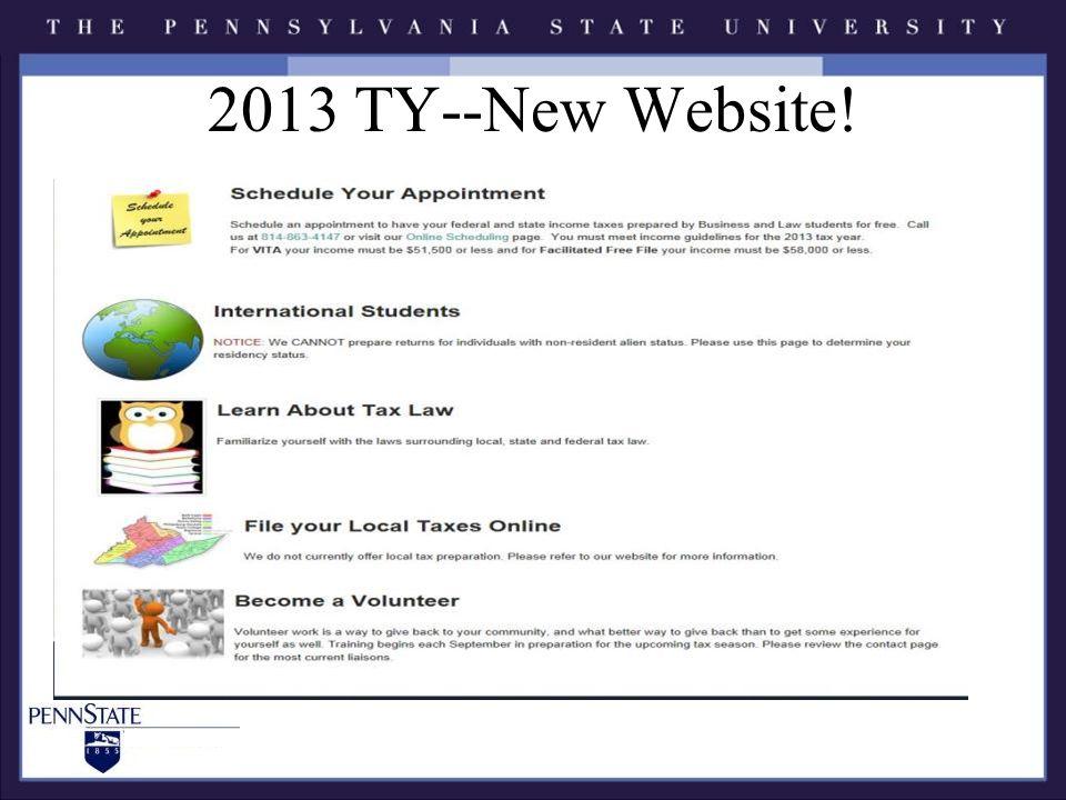 2013 TY--New Website!
