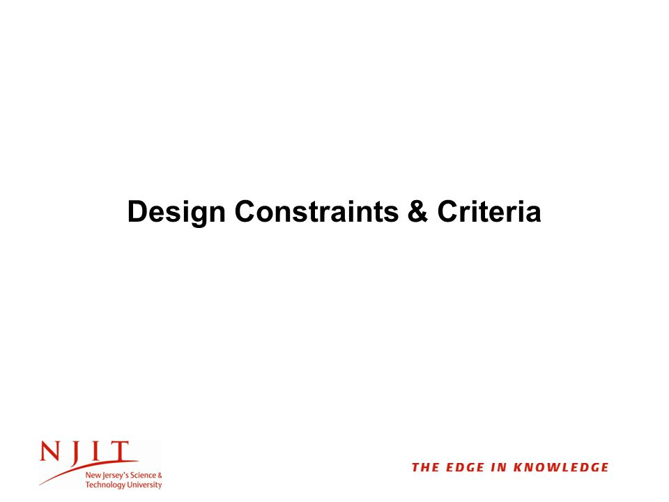 Design Constraints & Criteria