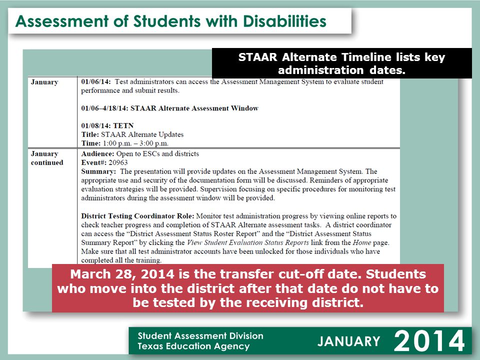 March 28, 2014 is the transfer cut-off date.