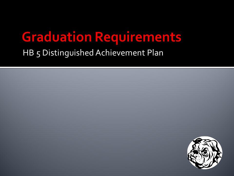 HB 5 Distinguished Achievement Plan
