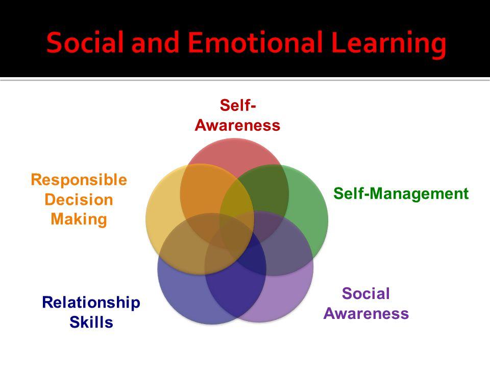 Self- Awareness Self-Management Social Awareness Relationship Skills Responsible Decision Making