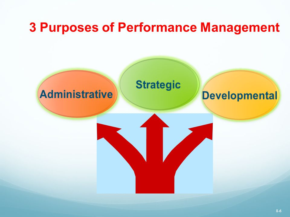 3 Purposes of Performance Management Strategic Developmental Administrative 8-6