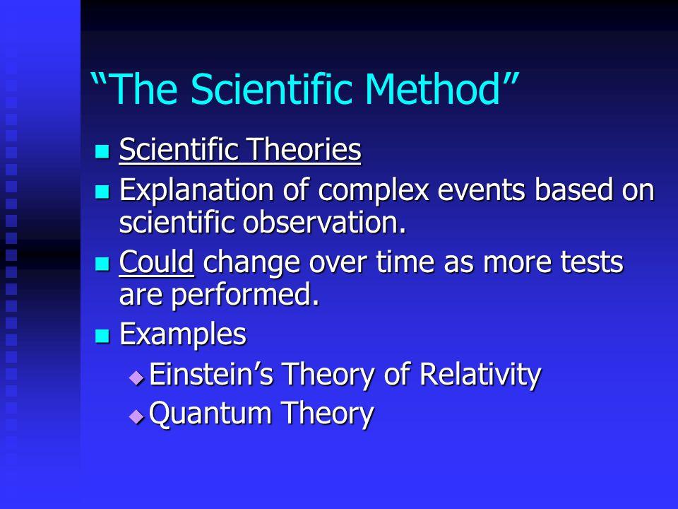 The Scientific Method Scientific Laws Scientific Laws Statement of scientific fact that always seems to be true.