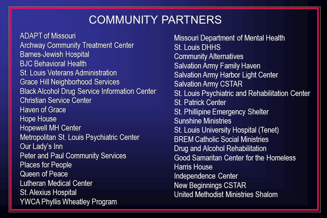 ADAPT of Missouri Archway Community Treatment Center Barnes-Jewish Hospital BJC Behavioral Health St.