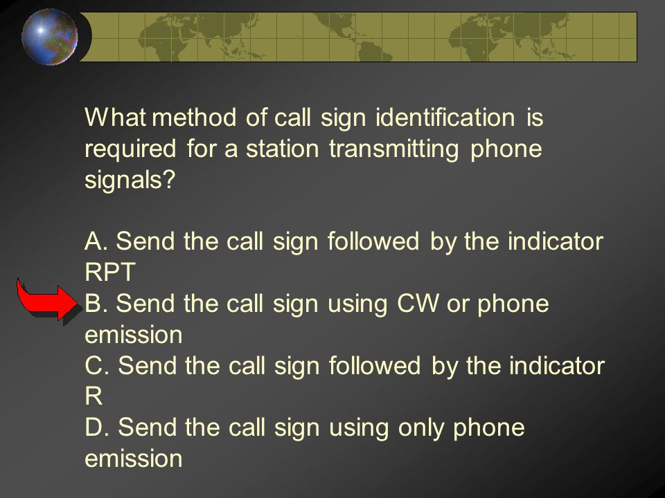 What method of call sign identification is required for a station transmitting phone signals.