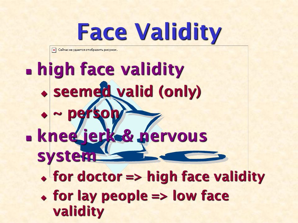 Content Validity ~ sample & population ~ sample & population MCQ => high content validity MCQ => high content validity MEQ => low content validity MEQ => low content validity