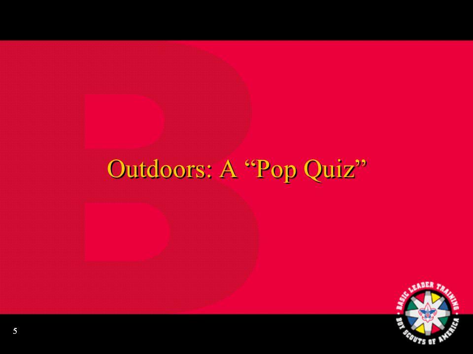 5 Outdoors: A Pop Quiz