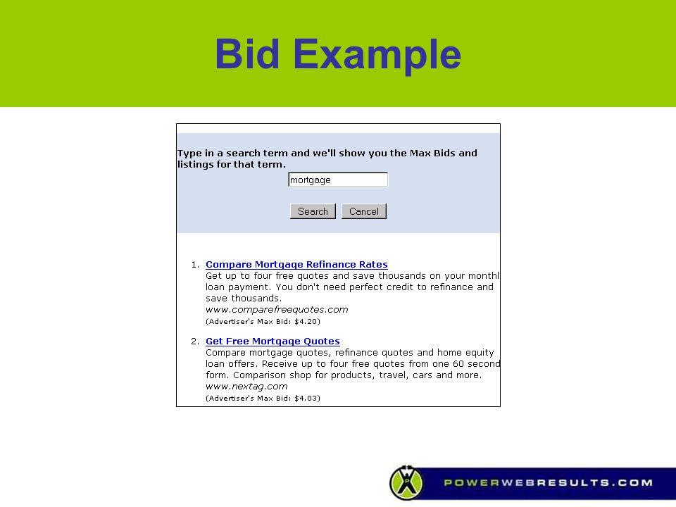 Bid Example