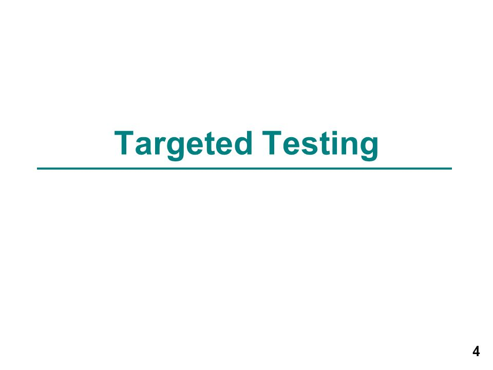 Module 3 – Targeted Testing and the Diagnosis of Latent Tuberculosis Infection and Tuberculosis Disease 5 Targeted Testing (1) Targeted testing is a TB control strategy used to identify and treat persons: –At high risk for infection with M.