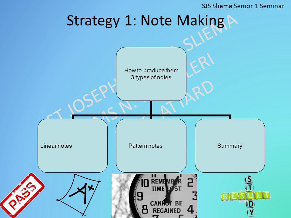 ST JOSEPH SCHOOL SLIEMA MS N.CAMILLERI MS C. ATTARD General Organisational Skills 1.