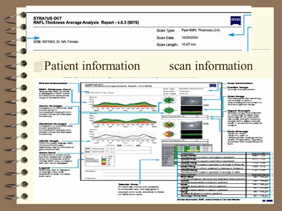 4 Patient information scan information