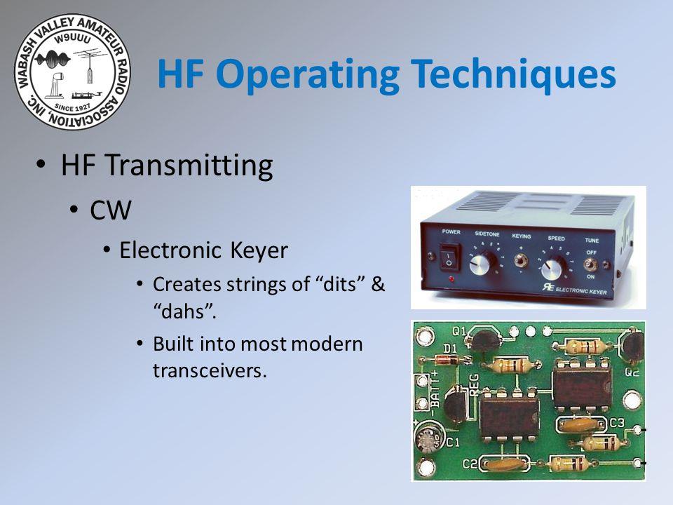 HF Transmitting CW Electronic Keyer Creates strings of dits & dahs .