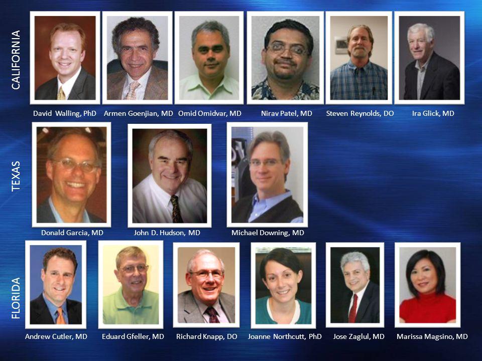 David Walling, PhD Armen Goenjian, MD Omid Omidvar, MD Nirav Patel, MD Steven Reynolds, DO Ira Glick, MD Donald Garcia, MD John D.