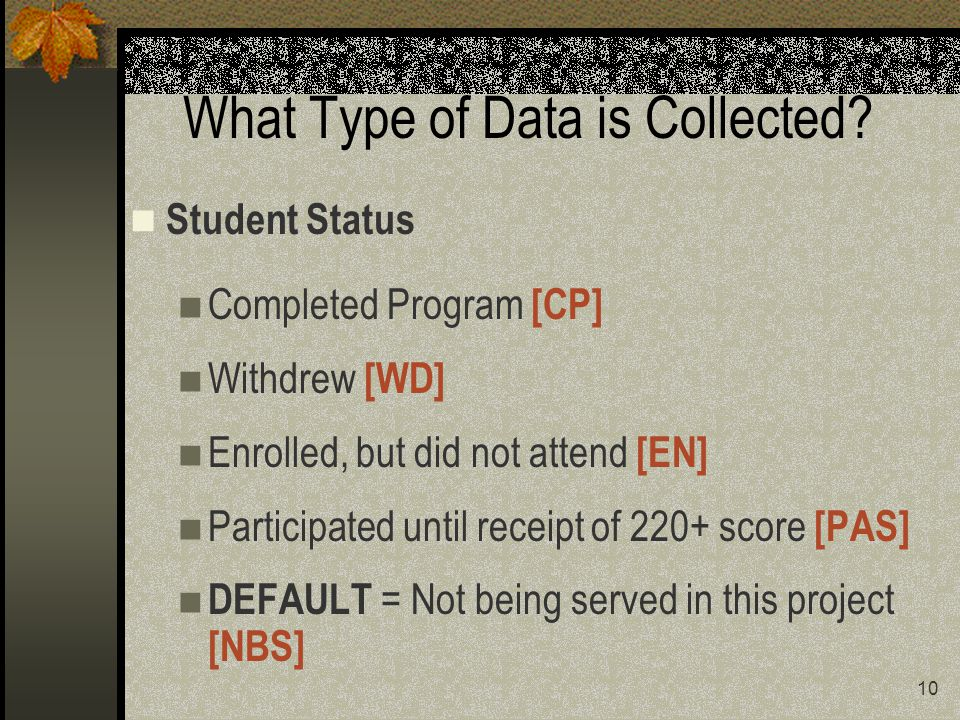 10 What Type of Data is Collected.