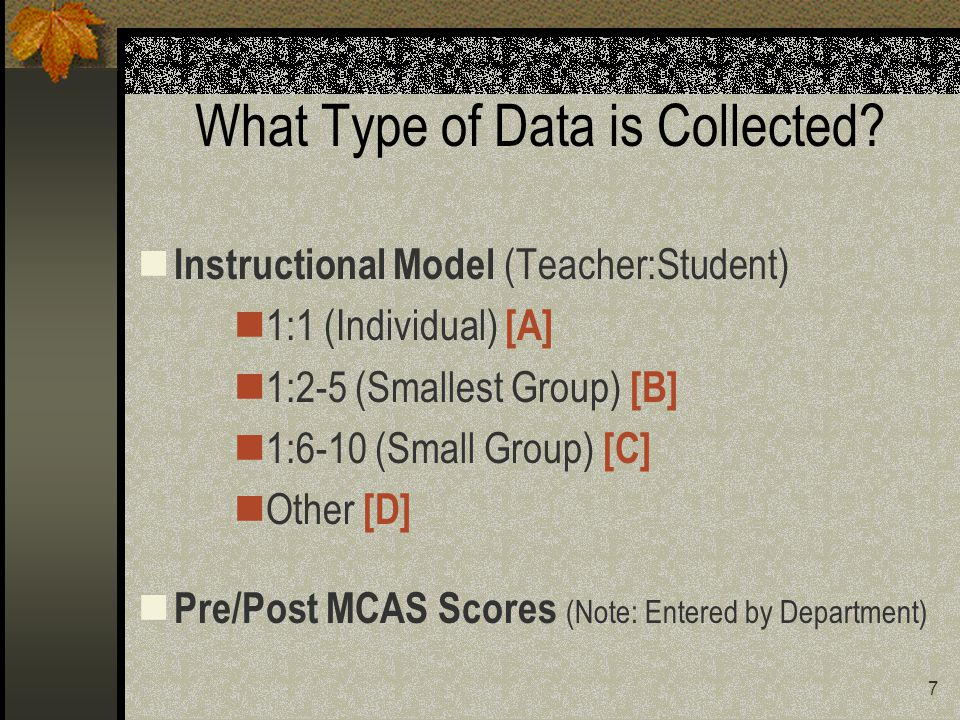 7 What Type of Data is Collected.