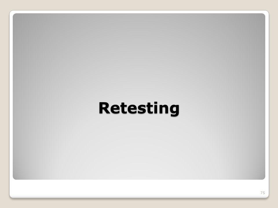 Retesting 75