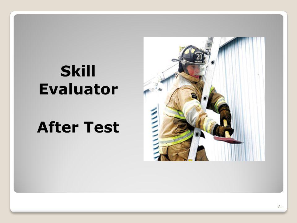 Skill Evaluator After Test 81