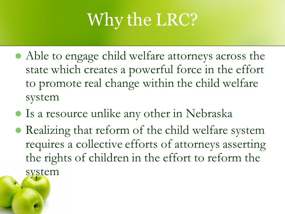 Why the LRC.