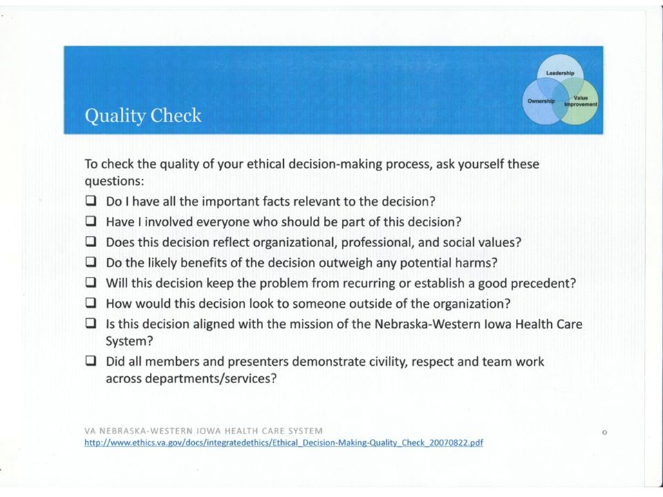 VA NEBRASKA-WESTERN IOWA HEALTH CARE SYSTEM Open Discussion 27.