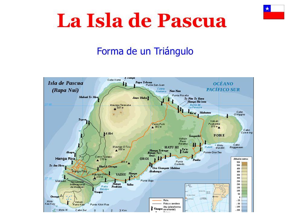 La Isla de Pascua Forma de un Triángulo