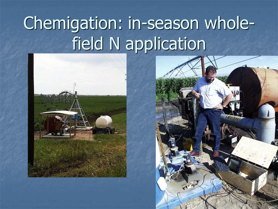 Chemigation: in-season whole- field N application