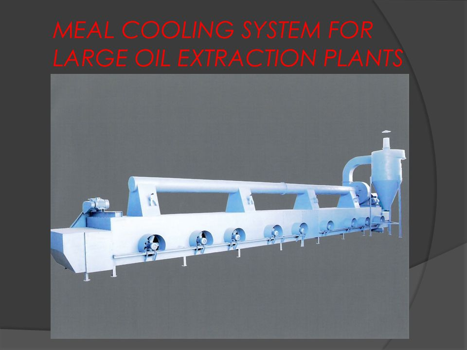 MEAL COOLING SYSTEM FOR LARGE OIL EXTRACTION PLANTS