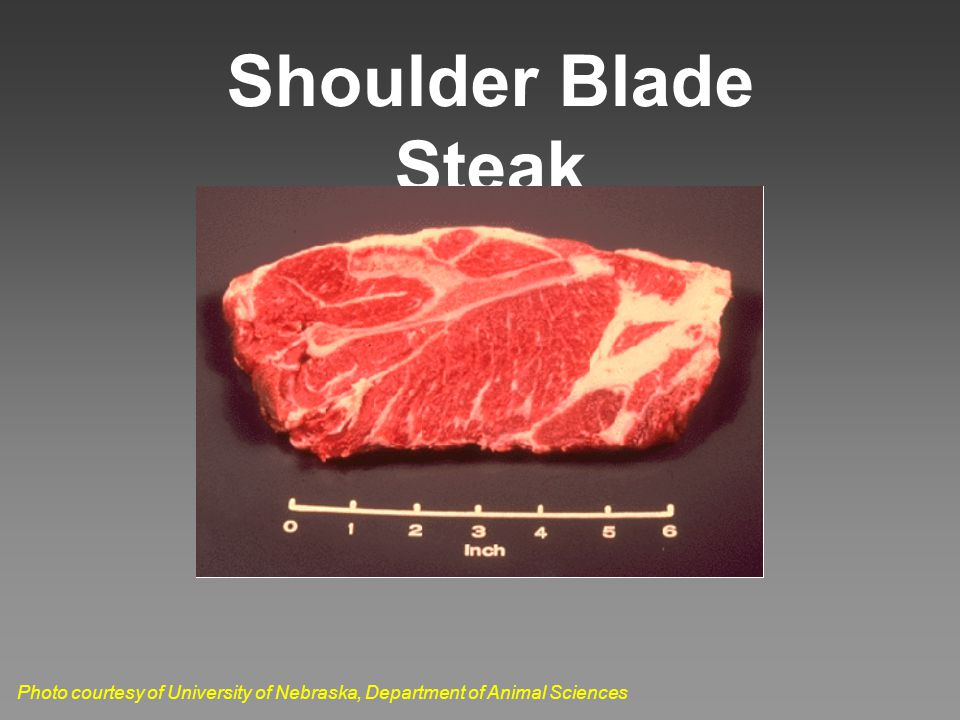 Shoulder Blade Steak Photo courtesy of University of Nebraska, Department of Animal Sciences