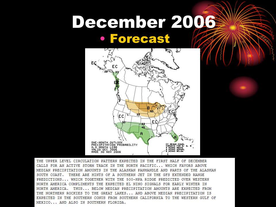 December 2006 Forecast
