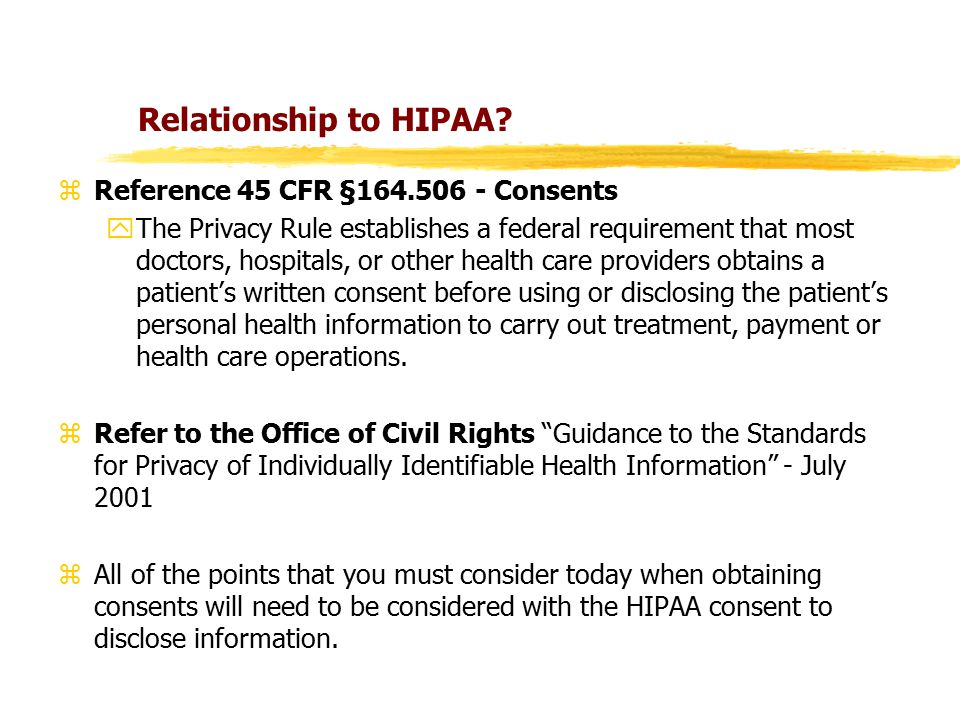 Relationship to HIPAA.