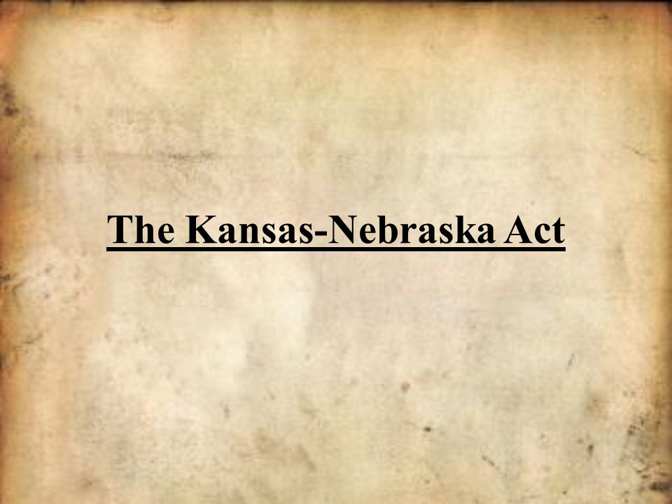 Northerners who were already horrified by slavery were roused to fury by one event in 1854: The Kansas-Nebraska Act.