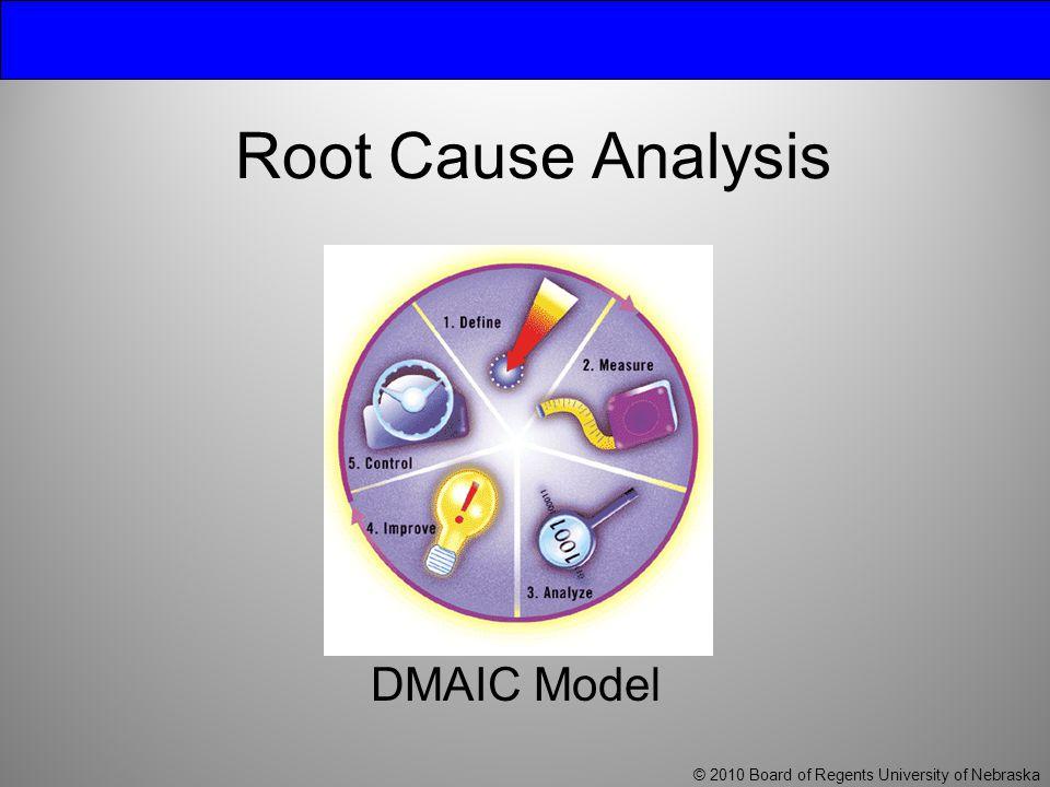 Root Cause Analysis DMAIC Model © 2010 Board of Regents University of Nebraska