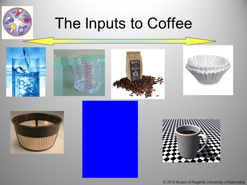 © 2010 Board of Regents University of Nebraska The Inputs to Coffee