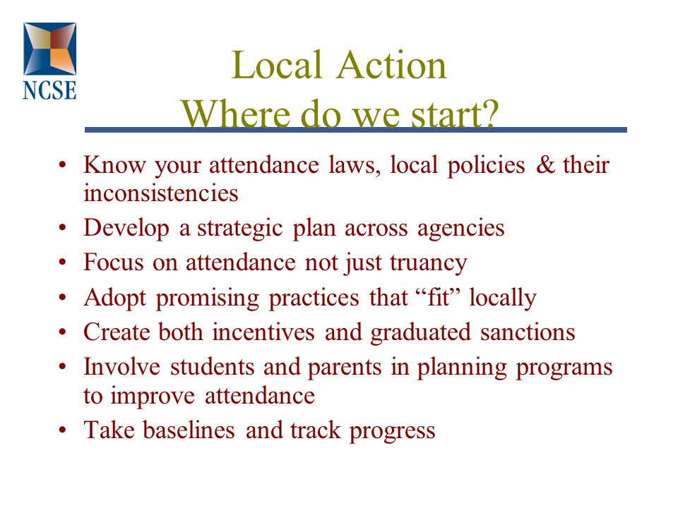 Local Action Where do we start.