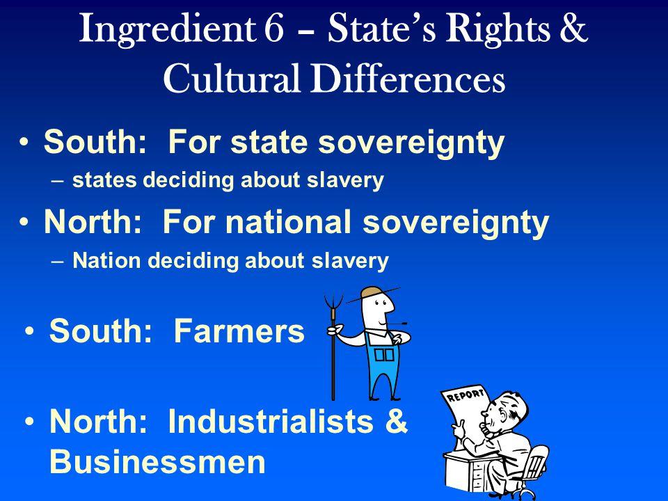 Ingredient 5 – Bleeding Kansas Congress passed the Kansas-Nebraska Act allowing the new territories of Kansas and Nebraska to decide the slavery issue by popular sovereignty.