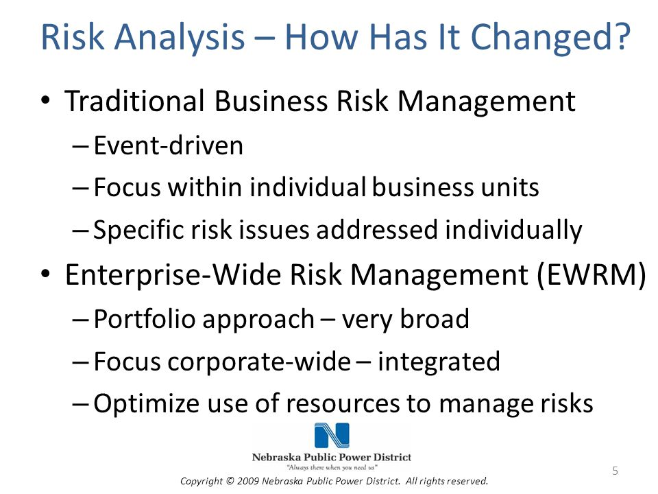 Risk Analysis – How Has It Changed.
