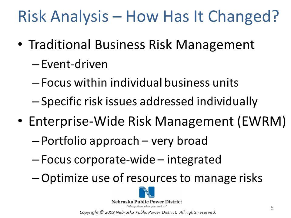 NPPD's Risk Management Process Manage Assess Identify 6 Copyright © 2009 Nebraska Public Power District.