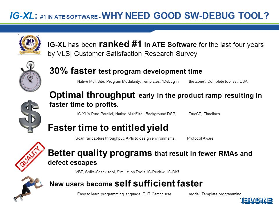 IG-XL: #1 IN ATE SOFTWARE - WHY NEED GOOD SW-DEBUG TOOL.