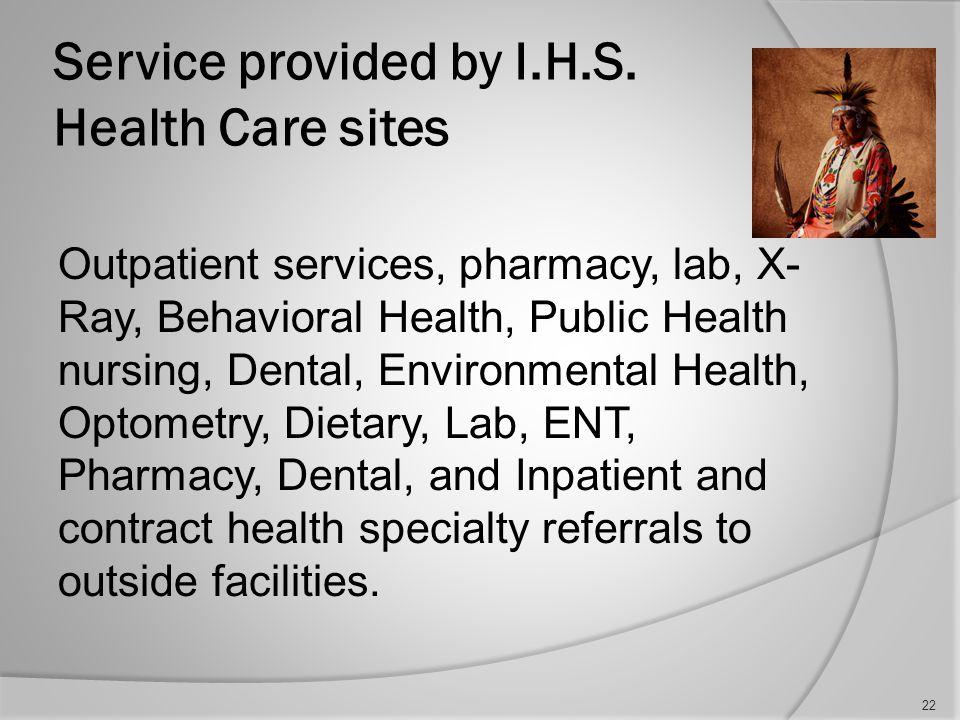 Hospitals Services cont….