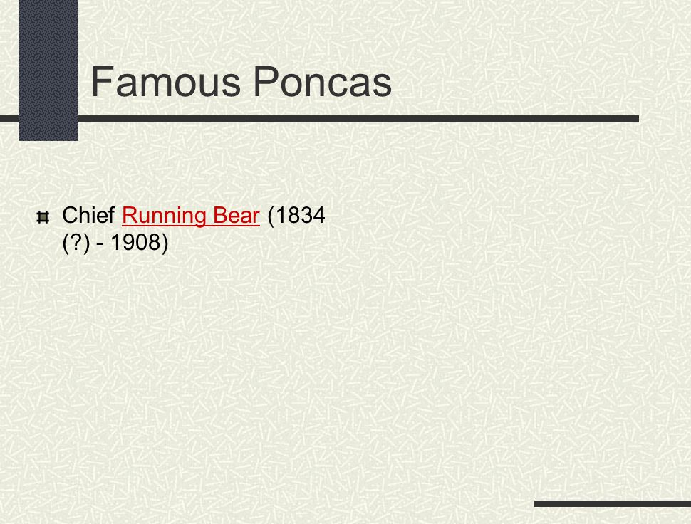 Famous Poncas Chief Running Bear (1834 (?) - 1908)