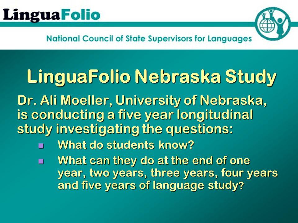 LinguaFolio Nebraska Study Dr.