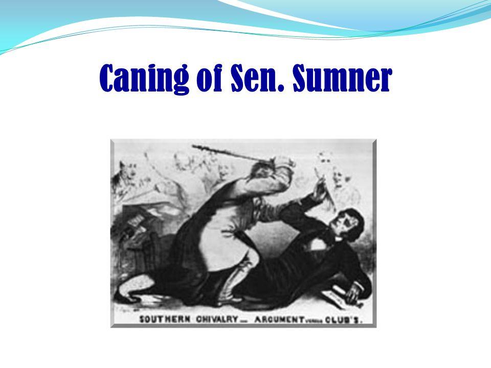 """Sen. Charles Sumner: The """"Crime Against Kansas"""" In 1856 Sen. Charles Sumner of Massachusetts spoke about the """"Crime against Kansas"""" - opening up the s"""
