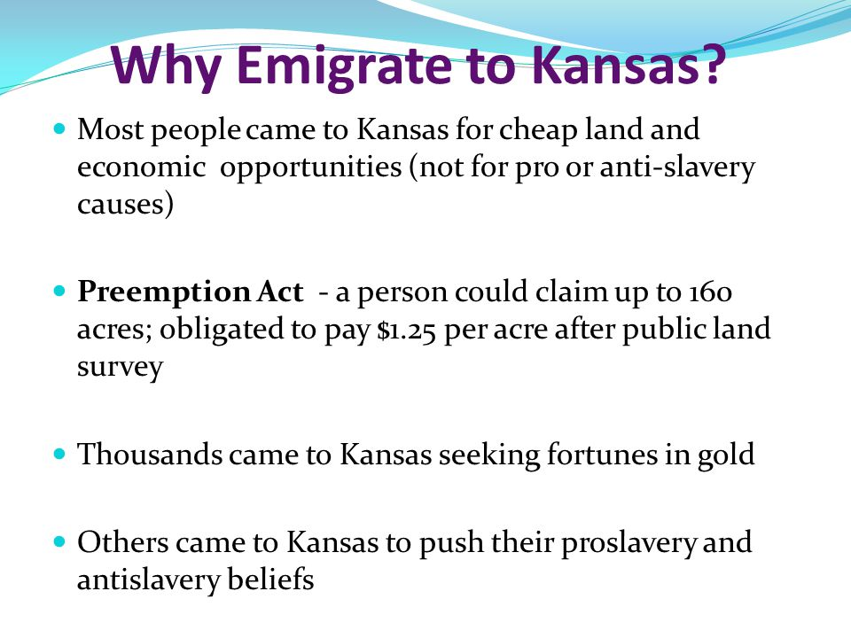 Why Emigrate to Kansas.
