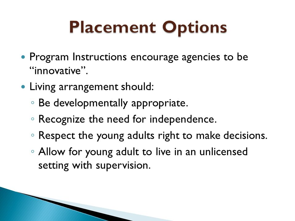 Program Instructions encourage agencies to be innovative .