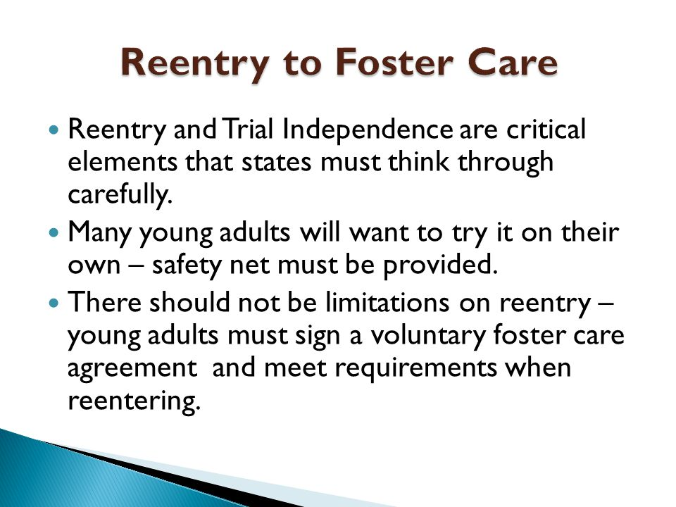 Reentry and Trial Independence are critical elements that states must think through carefully.
