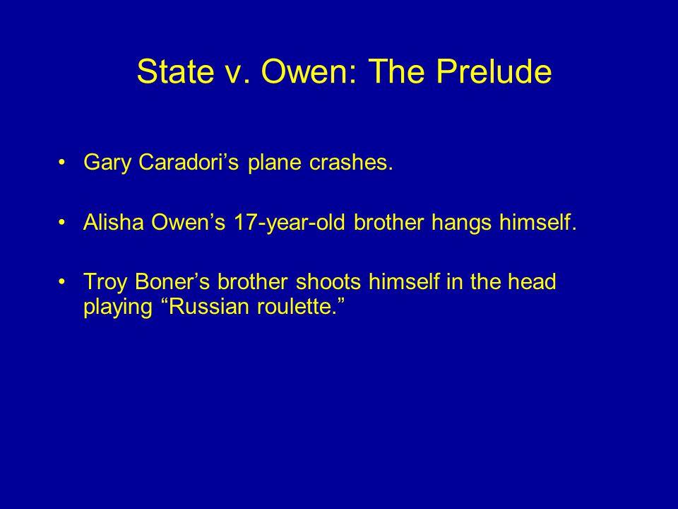State v. Owen: The Prelude Gary Caradori's plane crashes.