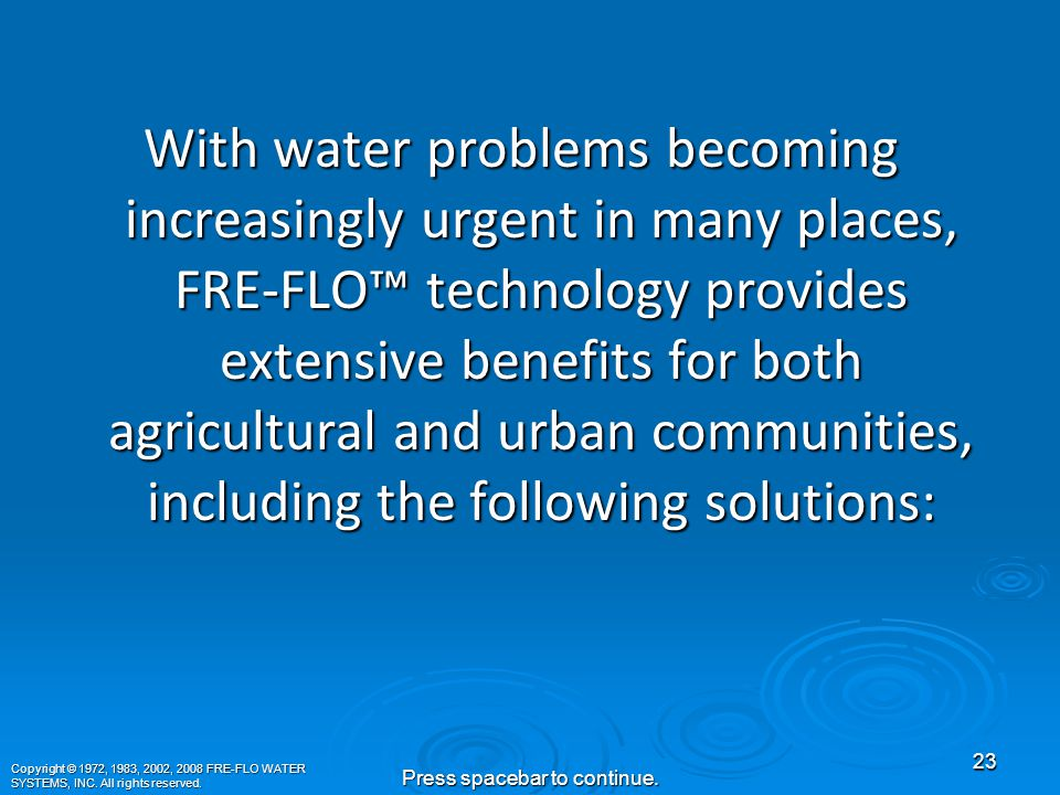 FRE-FLO ™ Expansion to Agriculture and Turf Thus, it was discovered that FRE-FLO ™ also has the benefit of eliminating calcium carbonate build-up in soil.