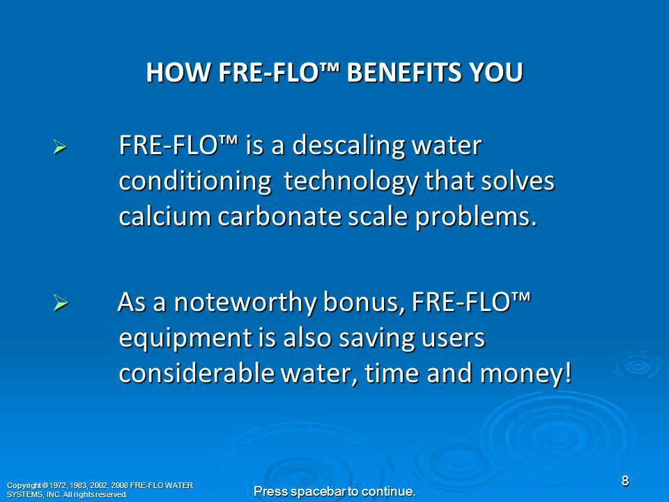 FRE-FLO™ SOLUTIONS FOR IRRIGATION  Moisture Sensing Probes Verify and Enhance FRE-FLO Water Conservation..