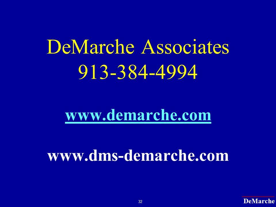 DeMarche 32 DeMarche Associates 913-384-4994 www.demarche.com www.dms-demarche.com