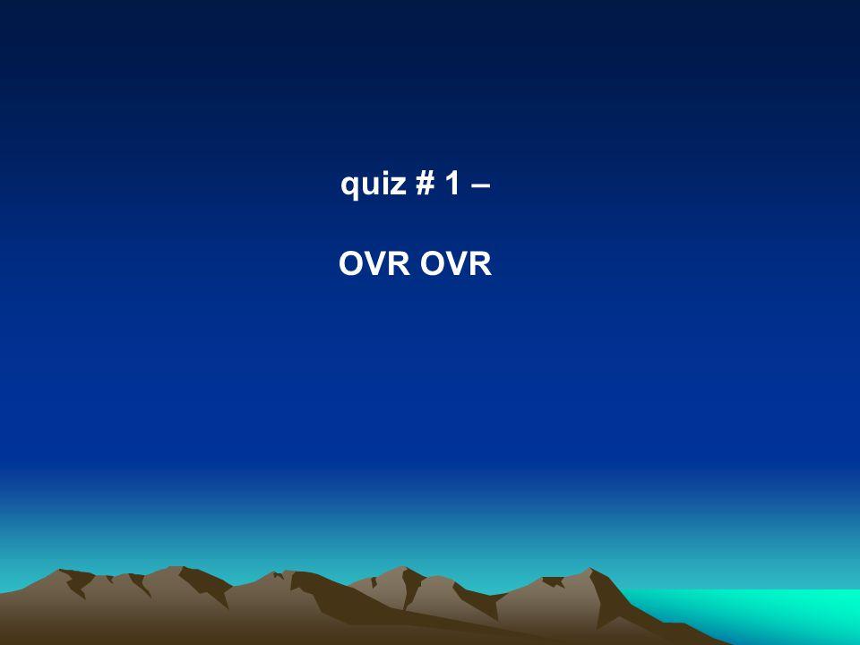 quiz # 1 – OVR
